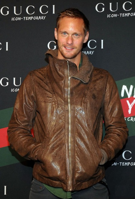 Actor Alexander Skarsgård  attends the Gucci Icon-Temporary Flas