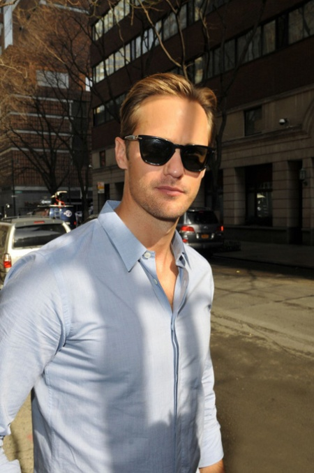 Alexander Skarsgard in New York City