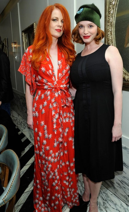 Shirley Manson and Actress Christina Hendricks