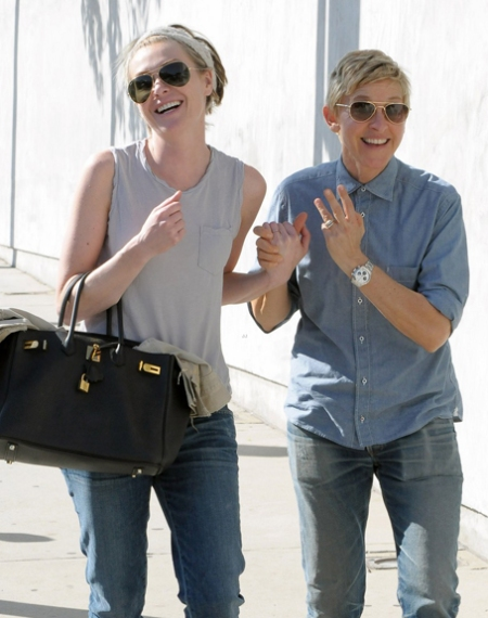 Ellen Degeneres  Portia de Rossi Spend Valentine's Day In West Hollywood